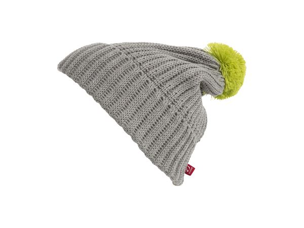 Hasvik hat Grey Melange/Lime Punch