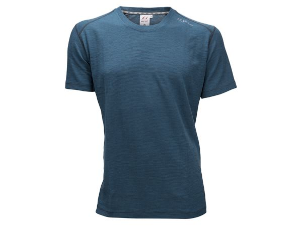 Merino Light Tee Ms Mosaic Blue/Granite