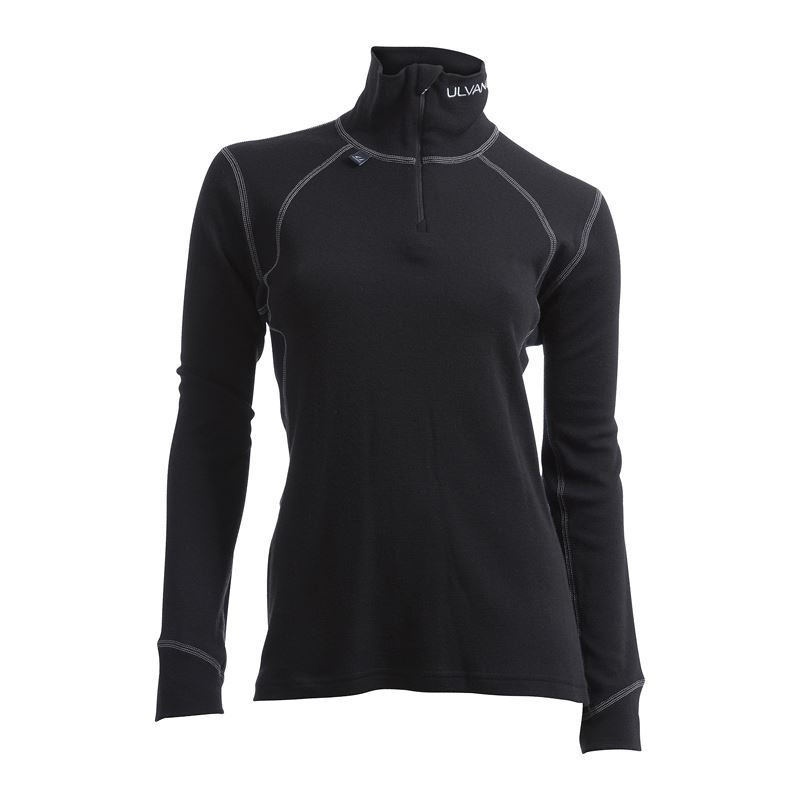 Thermo turtle neck w/zip Ws Black