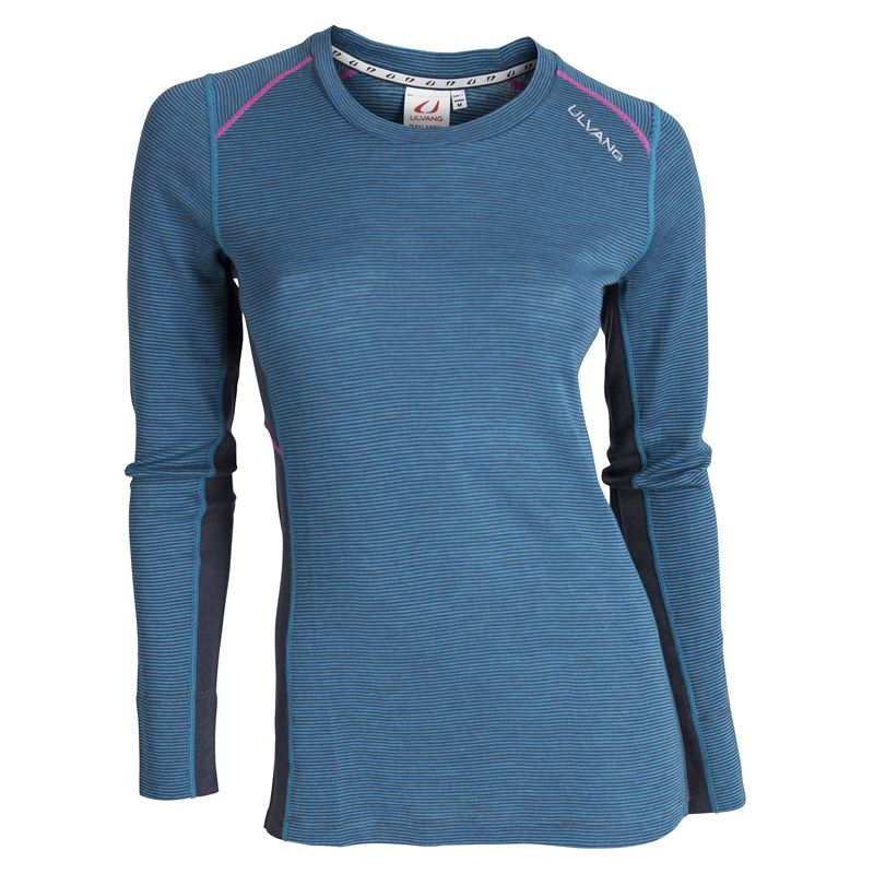 Rav 100% round neck Ws Mosaic Blue/Granite/Beetroot