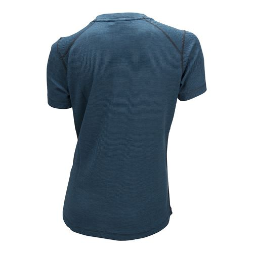 Merino Light Tee Ws Mosaic Blue/Granite