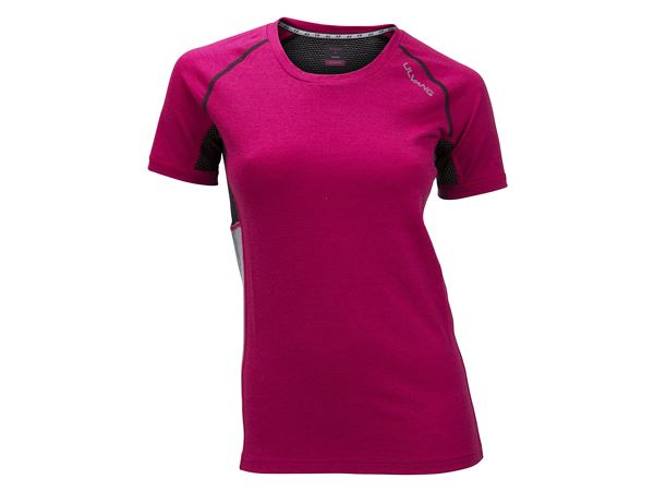 Training short sleeve Ws Heady Magenta/Grey Melange