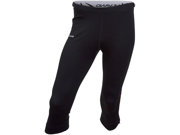 Training 3/4 pant w zip Ms Black