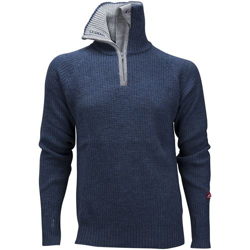 Rav sweater w/zip Navy Melange/Grey Melange/New Navy