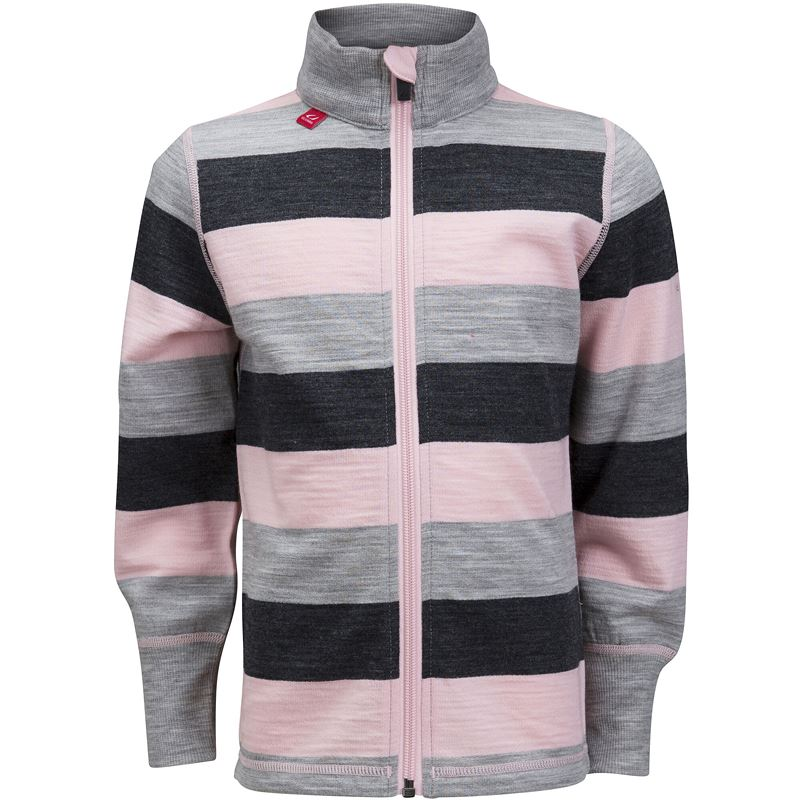 Flint jacket kids Sweet Pink/Grey Melange/Charcoal Melange