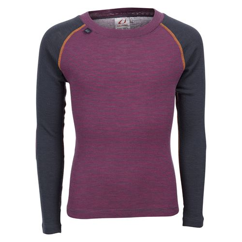 Rav 100%  round neck  Jr Beetroot/Granite/Coral Rose