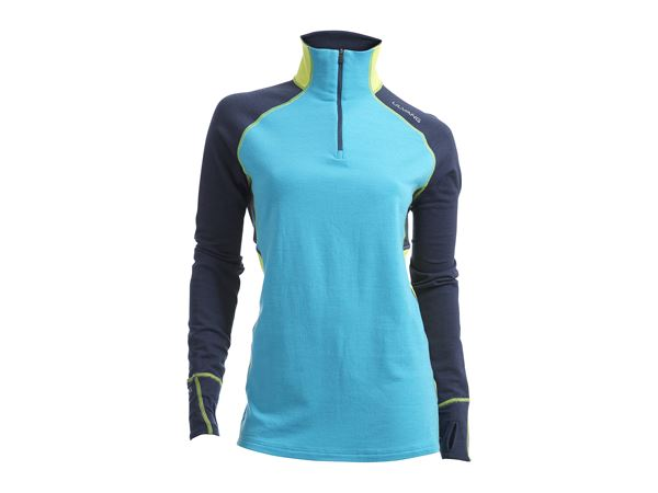 Training turtle midlayer Ws Blue Atoll/Lime Punch
