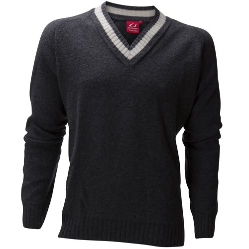 Kongsberg V-neck Ms Charcoal Melange