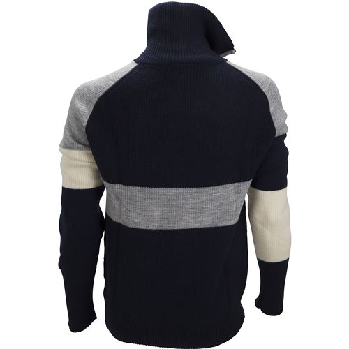 Rav limited sweater w/zip Ms New Navy/Grey Melange/Vanilla