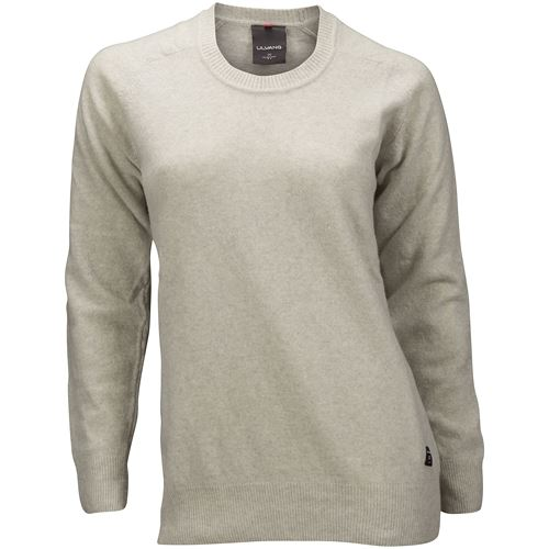 Skifer Round Neck W/patches W`s Light Grey/Charcoal Melange
