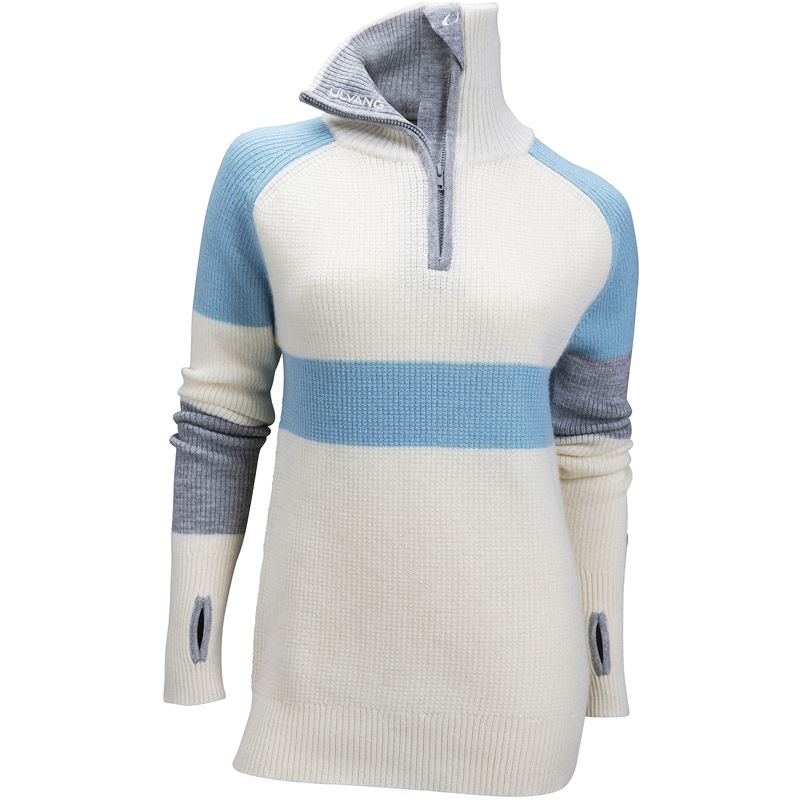Rav limited sweater w/zip Ws Vanilla/Gulf Stream/Grey Melange