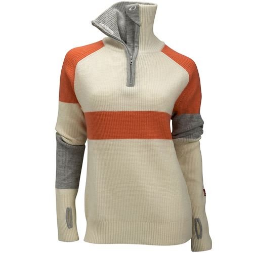 Rav limited sweater w/zip Ws Vanilla/Persimmon/Grey Melange