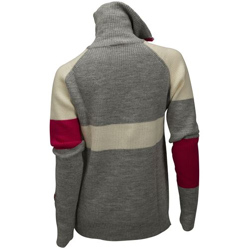 Rav limited sweater w/zip Ws Grey Melange/Vanilla/Raspberry